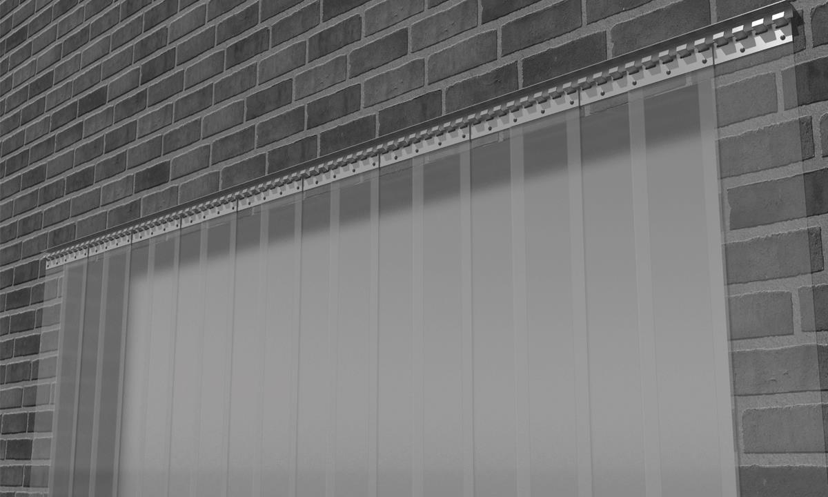 Topnotch Køb AAG Bændelgardin - Komplet med skinne og beslag XB-34